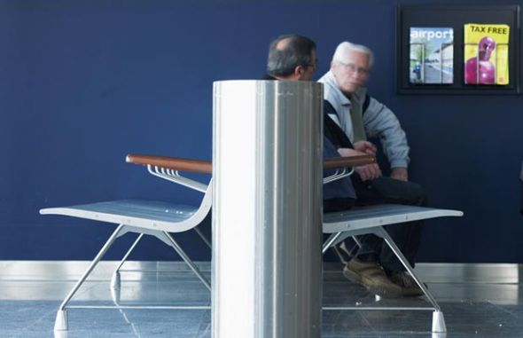 Copenhague Airport. AERO aluminium bench.